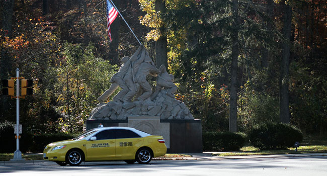 Yellow Cab at Iwo Jima Memorial